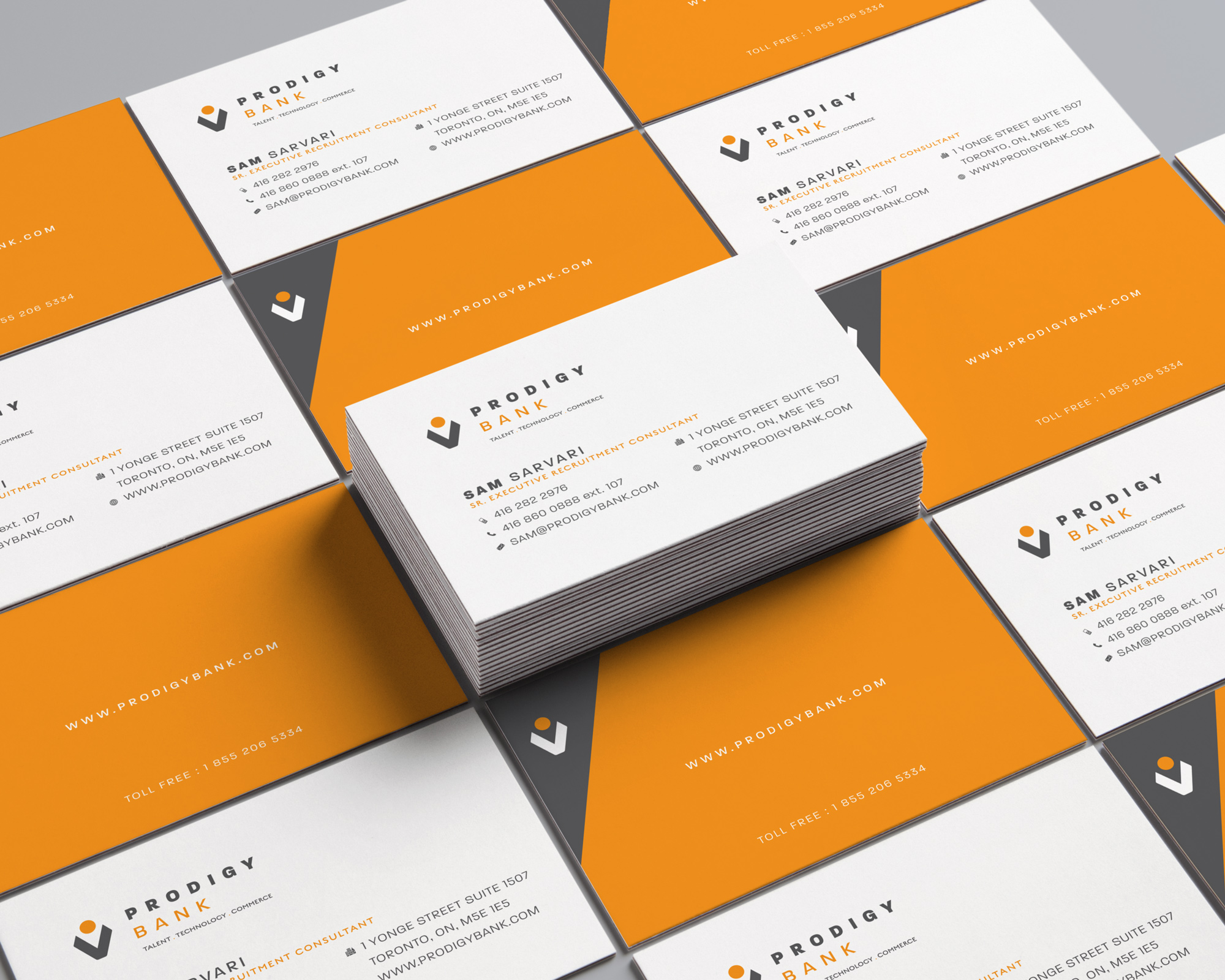 Prodigy Bank Business Cards